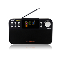 DR 103B GTMEDIA Portable Digital DAB+ DAB FM Radio DAB RDS Wavebands Receiver BT 4.0 Speaker Stereo Receptor 2.4 Inch Display