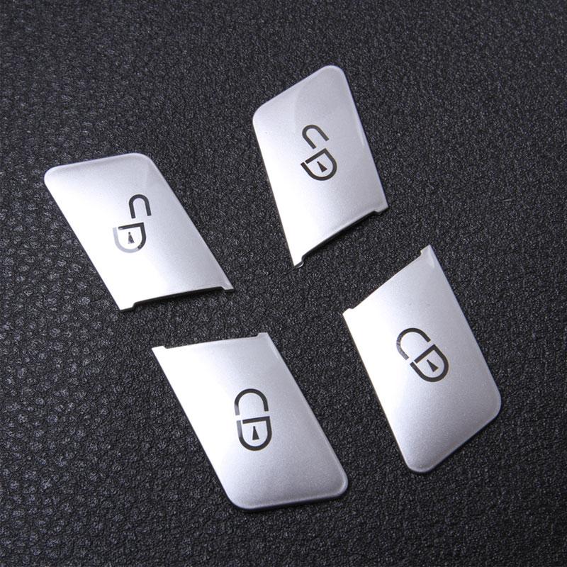 Envío libre Asientos de la puerta del coche Ajuste de la memoria de la etiqueta engomada de la cubierta del botón del botón para Mercedes Benz CLA / GLA / GLK / GLE / CLS / GL / ML / A / B / E