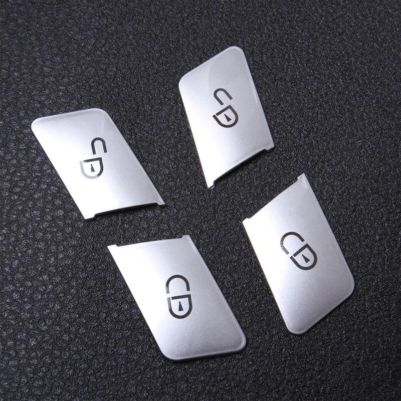 O envio gratuito de Porta Do Carro Assentos Memória Ajustando Botão Trim Tampa Etiqueta Para Mercedes Benz CLA/ABL/GLK /GLE/CLS/GL/ML/A/B/E