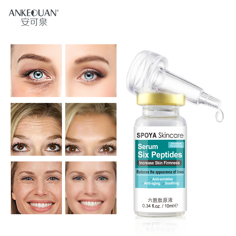 Six Peptides Serum anti-aging and anti-wrinkles make skin smoothing and moisture restiorin