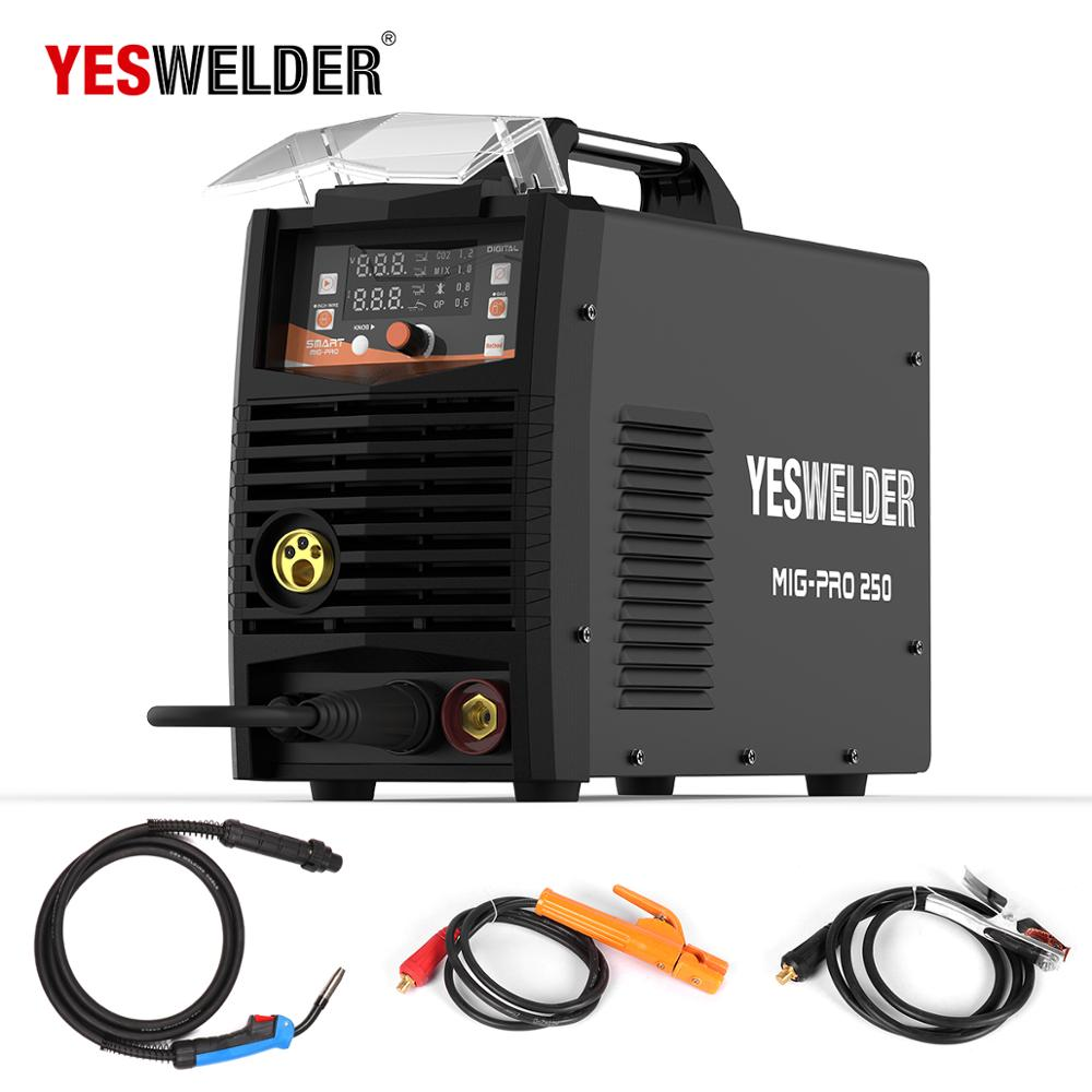 YESWELDER MIG250A No Gas and Gas MIG Welding Machine MIG Welder With Light Weight Single Phase