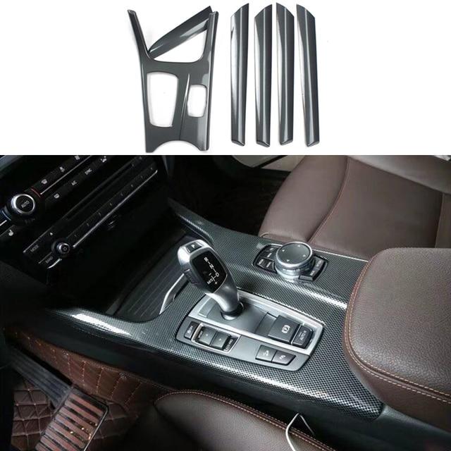 6PCS Carbon Fiber Color Interior Trim Kit Full Set Cover For BMW X3 ...