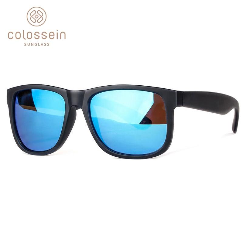 COLOSSEIN 빈티지 선글라스 남자 패션 공식 정사각형 - 의류 액세서리