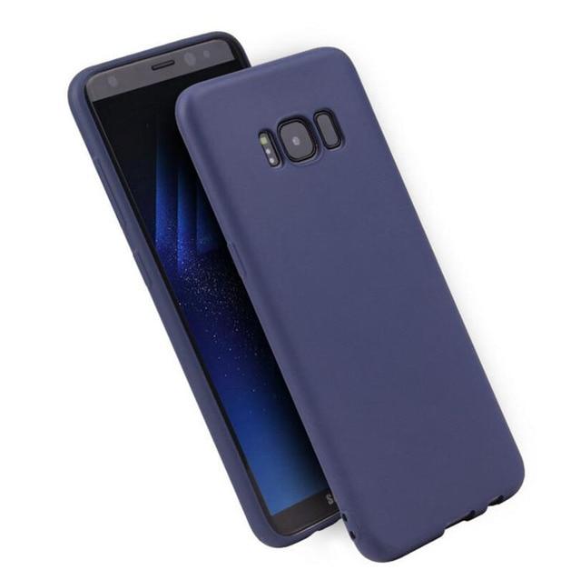 Soft Plain TPU Silicone Case for samsung galaxy S8 S8 Plus S9 S10 S10E S10 Plus J3 J4 J5 J6 Plus J7 J8 Candy Back cover case
