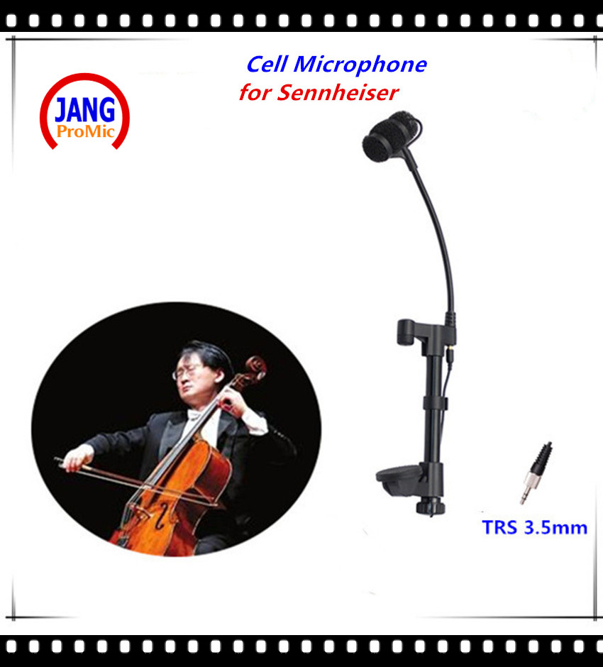 Professional Lapela Cello Microphone Condenser Instrument Microfone for Sennheiser Wireless System TRS 3.5mm Screw Mikrofon  professional waterproof condenser microphone sport headset microfone for sennheiser wireless system trs 3 5mm screw jack mic