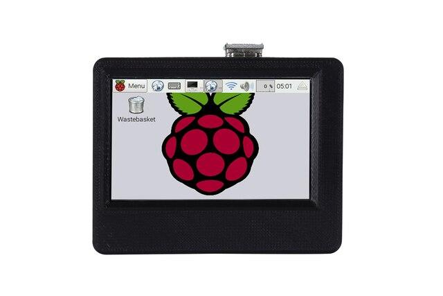 ใหม่ 3.5 นิ้ว 800x480 USB HDMI จอแสดงผล LCD หน้าจอสัมผัส 3D พิมพ์พร้อมพัดลมระบายความร้อนสำหรับ Raspberry pi