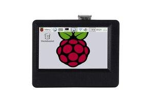 Image 1 - Nouvel écran tactile LCD 3.5 pouces 800x480, HDMI, boîtier dimpression 3D, pour Raspberry Pi, avec ventilateur de refroidissement