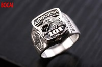 Thai silver ring restoring ancient ways is the 101th airborne division men domineering personality index finger ring