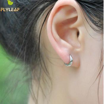Flyleaf 925 Sterling Silver Circle Stud Earrings For Women Hypoallergenic Fashion Sterling-silver-jewelry