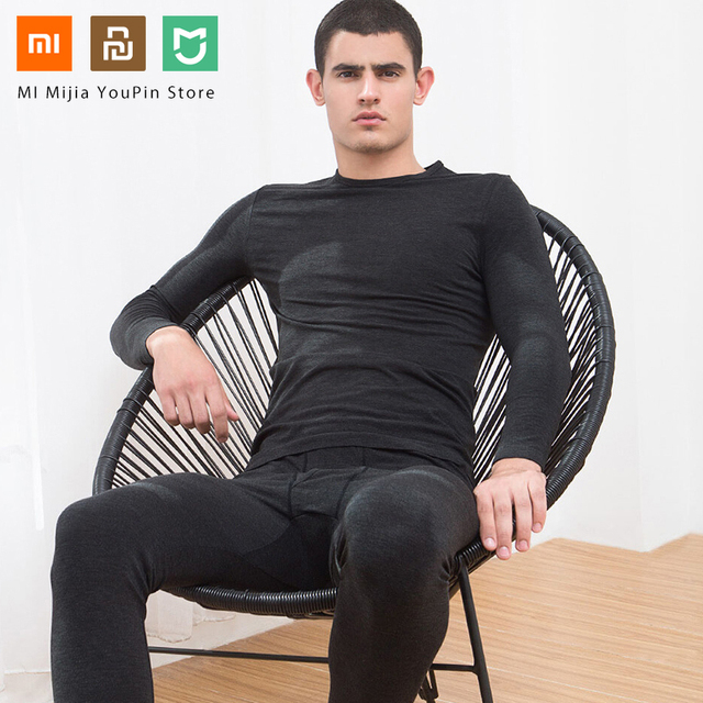 Xiaomi Mijia COTTONSMITH velvet seamless warm suit winter base thermal underwear bodycon autumn warm clothes sleepwear