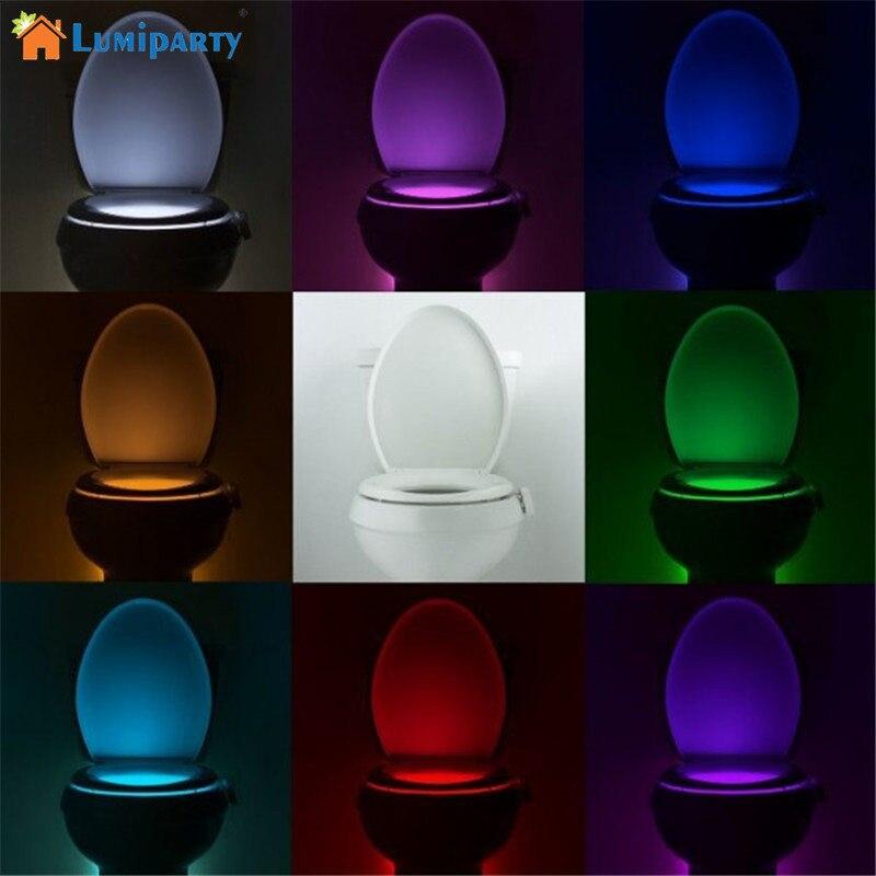 Viedā PIR kustības sensora tualetes sēdeklis nakts apgaismojums 8 - Nakts gaismas - Foto 2