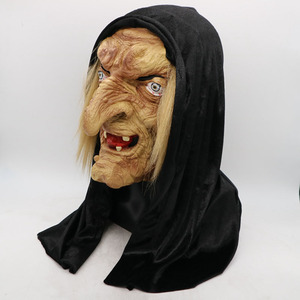Image 2 - 무서운 성인 올드 마녀 마스크 라텍스 소름 끼치는 할로윈 멋진 드레스 Grimace 파티 의상 액세서리 코스프레 소품 성인 한 사이즈