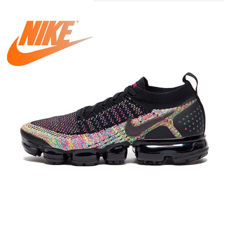 Original Authentic Nike Air Vapormax Knitted Running Shoes Women's Air Cushion Flyknit Comfortable Sports Shoes 942843-015