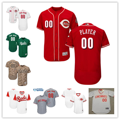 Custom Mens Cincinnati Reds Players Weekend Fathers Day Mothers Day Any Name Number Baseball Jersey Size XS-6XL