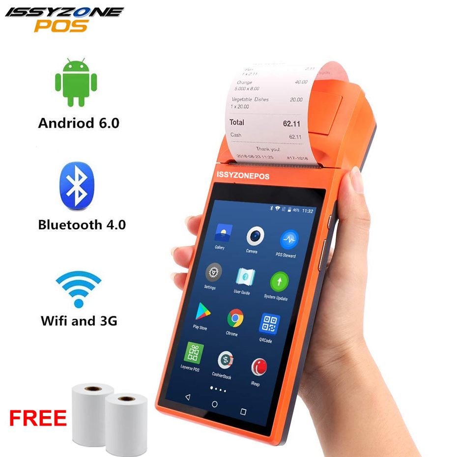 Sunmi V1s Android 6.0 POS Terminal Handled PDA with 3G WiFi Bluetooth Printer to Print Order Receipt Loyverse iEARP Software все цены