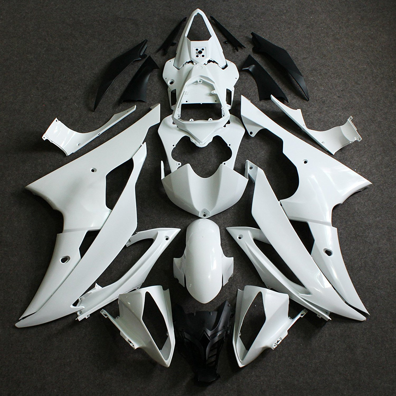 Motorbike Unpainted Injection Fairing Kit For Yamaha YZF R6 YZFR6 YZF-R6 2008 2009 2010 2011 2012 2013 08 - 13 Bodywork Fairings car rear trunk security shield shade cargo cover for nissan qashqai 2008 2009 2010 2011 2012 2013 black beige