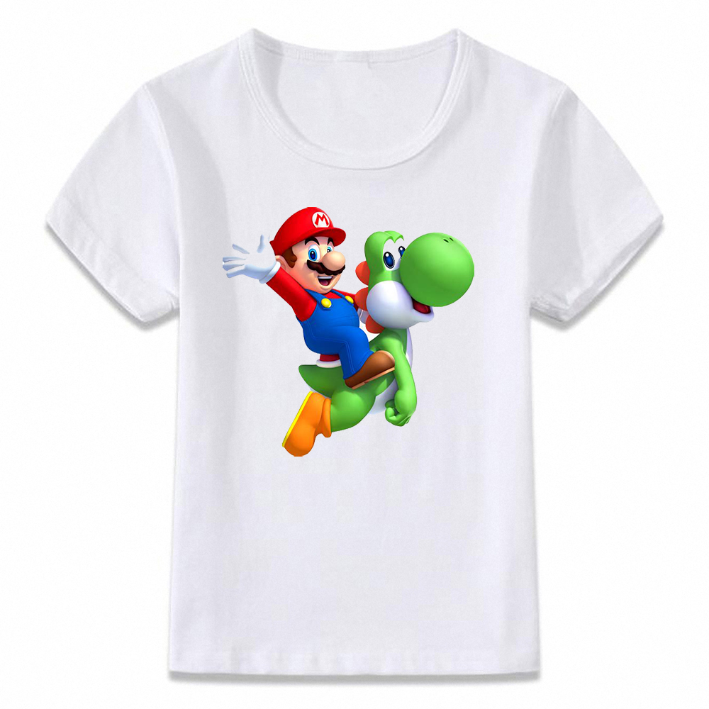 Kids Clothes T Shirt Mario And Yoshi Cute Funny Children T-shirt For Boys And Girls Toddler Shirts Tee Oal242