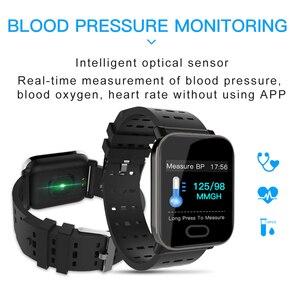 Image 4 - مصنع A6 ساعة ذكية مراقب معدل ضربات القلب جهاز مراقبة اللياقة الرياضية ضغط الدم دعوة تذكير الرجال ساعة ل iOS أندرويد هدية