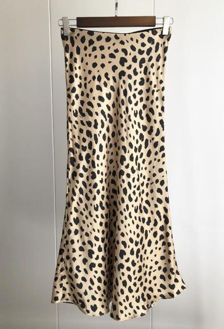 Roman Originals Femmes Imprimé Animal Slinky Satin Midi robe