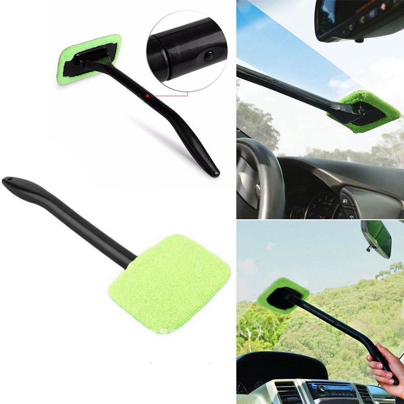 Microfiber Windshield Clean Car Auto Wiper Cleaner Glass Window Tool Brush