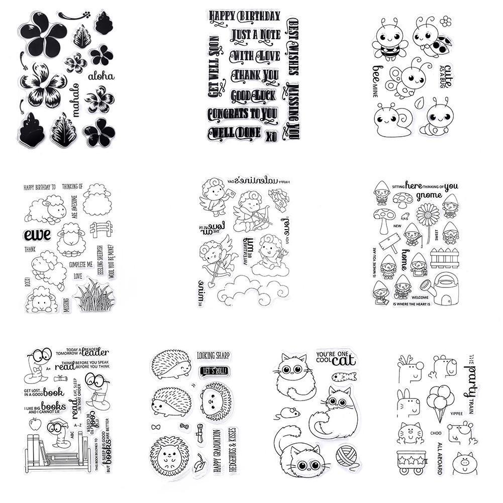 DIY Manual Materials Transparent Scrapbook Stamp Seal