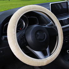 2018 New  Winter Faux Wool Car Steering Wheel Cover for women Car seat Cover Fuzzy Car Interior Accessories Car styling все цены