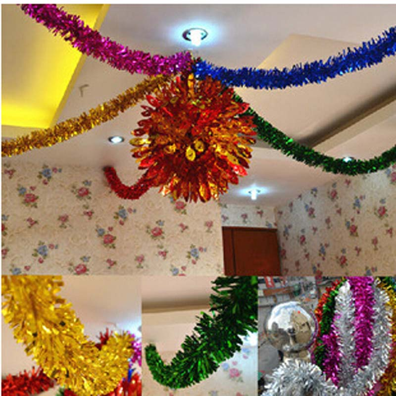New christmas party wedding decorative colored ribbon indoor color ribbon christmas tree Come home year decorations