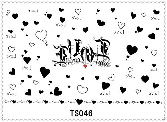 Assez Yeeech temporaire Harajuku tatouage amour conception de coeur  RO31