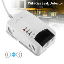цена на WiFi Gas Leak Detector Sensor Combustible Alarm LPG Tester Home LED Air System Wifi Smoke Detector