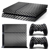 7 Colors Carbon Fiber Pvc Vinyl Skin Sticker for Sony PlayStation 4 for PS4 Console and Controllers free shipping