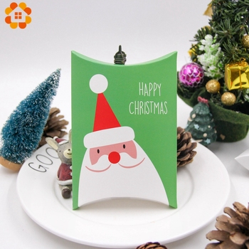 1Set Deer&Santa Claus Merry Christmas Candy Gift Boxes Guests Packaging Boxes Gift Bag Christmas Party Favors Kids Gift Decor 3