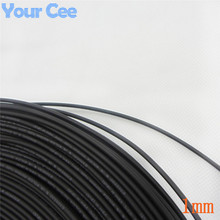 1m Inner Diameter 1mm Heat Shrink Insulation Sleeving Heatshrink Tubing 600 Voltage Black Tube Wire Wrap Cable Kit