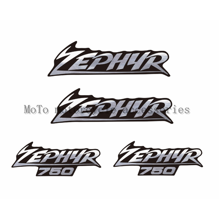 Motorcycle Plating Silver & Black Bottom Decal Sticker Car Shell Labeling FOR ZEPHYR 750
