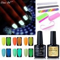 Beau Gel Pro Nail Gel Varnish Set 10ml Fluorescent Neon Luminous UV Nail Gel Polish Nail