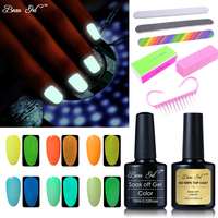 Beau Gel Pro Nail Gel Varnish Set 10ml Fluorescent Neon Luminous UV Nail Gel Polish Nail
