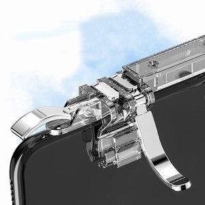 Image 5 - One piece 6 doigt Pubg Mobile contrôleur de jeu téléphone manette de jeu gachette L1 R1 visée/tireur bouton Joystick pour IPhone Android