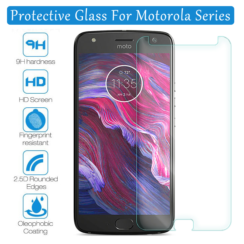 For Moto X4 Tempered Glass on For Motorola G5s Plus G5 Z Z2 One Power Vison P30 Play Screen Protector Protection Film Glass film image