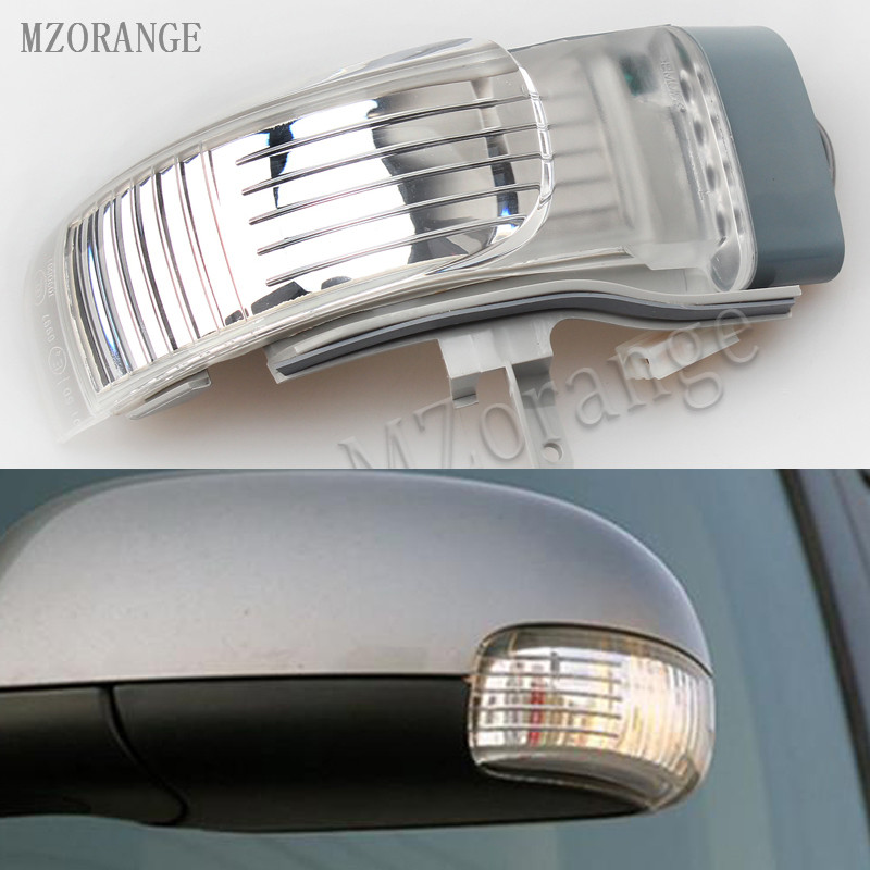 MZORANGE Outer Rearview Side Mirror LED Turn Signal Lamp Repeater Indicator Left/Light For VW Touran 2004-2010 1 psc left side mirror indicator light turn signal lamp for mazda 6 2 0l 2008