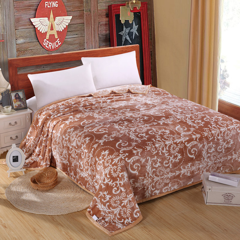 6bfab8a41b Bed Cover Warm Cotton Fur Fox Rabbit Wool C Blankets Wedding For Friend  Gift Bedroom Vine