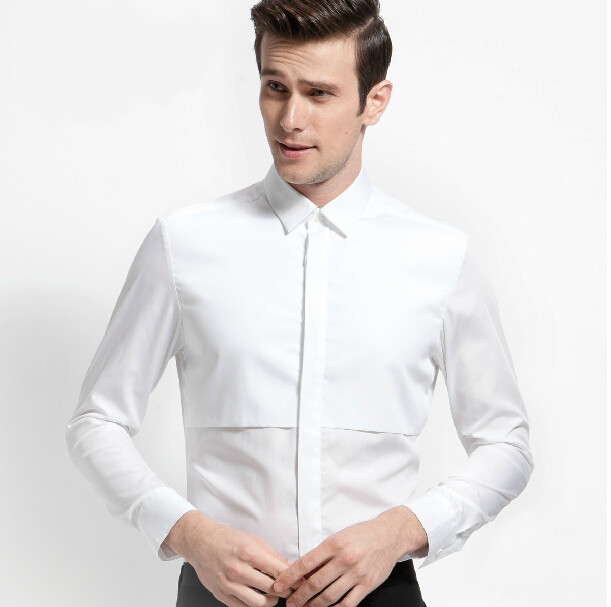 Artistic White Shirts Cultivate One S Mity Men Long Sleeve Shirt Cotton Commerce And Office