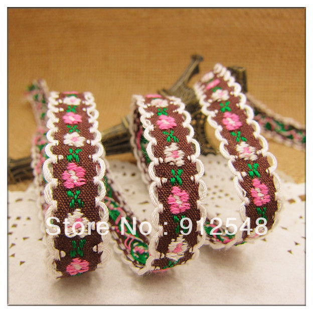 free shipping 3 8 10mm chromophous embroidery ribbon laciness font b mobile b font font b