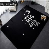 Cartoon Big Dream Black Carpet Children Crawling Sleeping Bedroom Living Room Non slip Mats 145CM 195CM