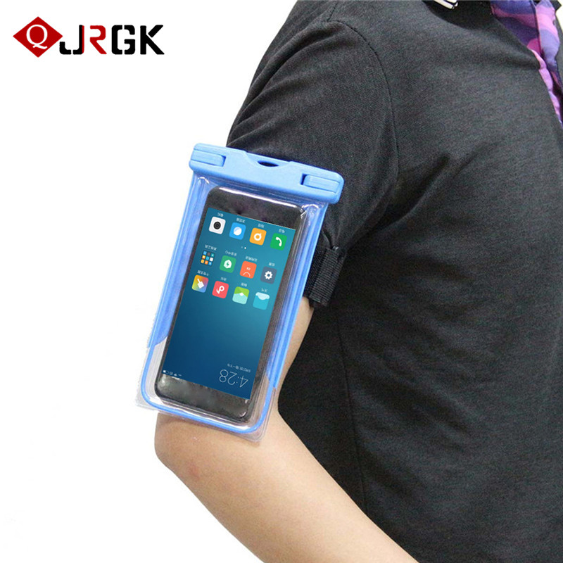 Mobile Phone Accessories Universal Waterproof Phone Case Pouch With Sport Arm Band For Iphone/samsung/lg/htc/nokia/blu Up To 6 Inch Diagonal Size Shrink-Proof
