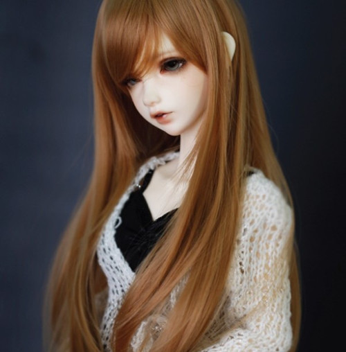 2017 Newest Style 1/4 Bjd Wig High Temperature Long Brown Bjd Wig MSD SD Yosd For BJD Doll Free Shipping 1 3 1 4 1 6 1 8 1 12 bjd wigs fashion light gray fur wig bjd sd short wig for diy dollfie