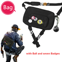 Watch Dogs 2 Costume A Bag Marcus Holloway Cosplay Accessories Bags A Bag of A Mark Game for Halloween Party Outfit Free Badge