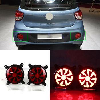 LED Rear Bumper Reflector Fog Brake Turn Indicator Lights For Hyundai i10 17-18