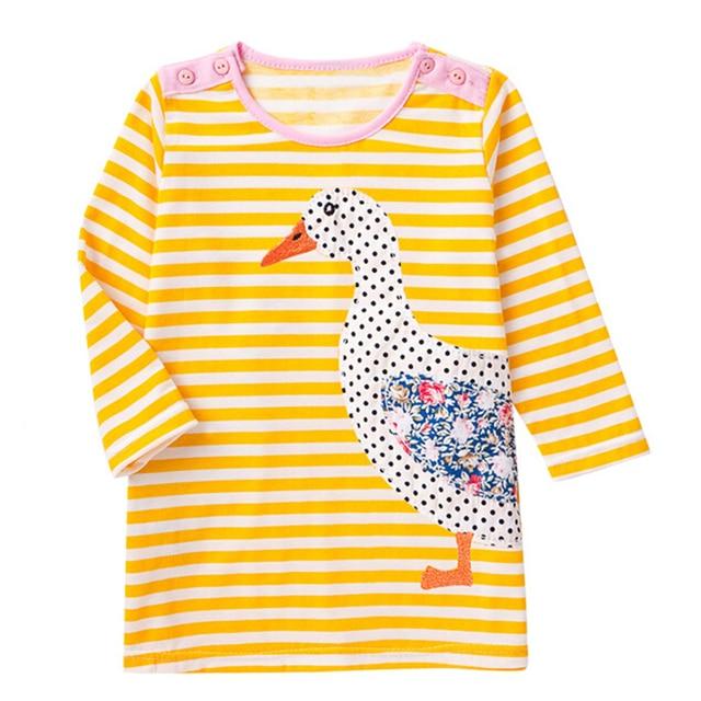Детские платья для девочек 2018 новое осеннее платье принцессы детская Туника животных Обувь для девочек Платья для женщин маленьких Детская одежда на выход