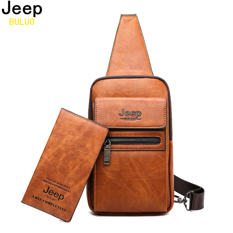 Chest-Bags Shoulder-Crossbody-Bag Jeep Buluo Split-Leather Large-Size High-Quality Famous-Brand