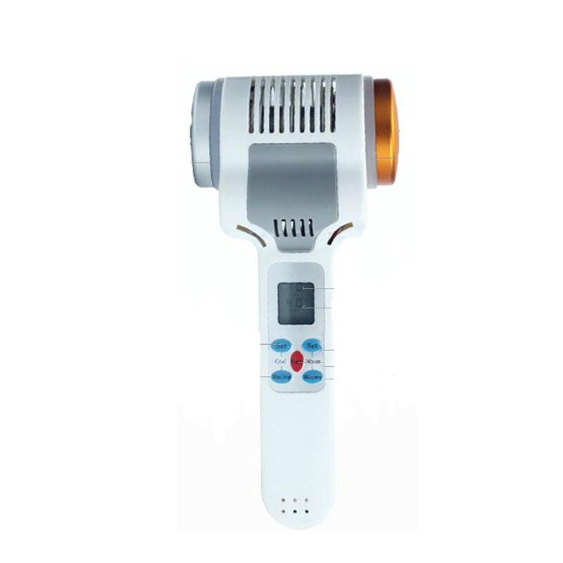 Instrument de thérapie de la glace beauté maison marteau marteau chaud et froid importation de pores contractifs lumière bleue rouge lumière instrument de glace