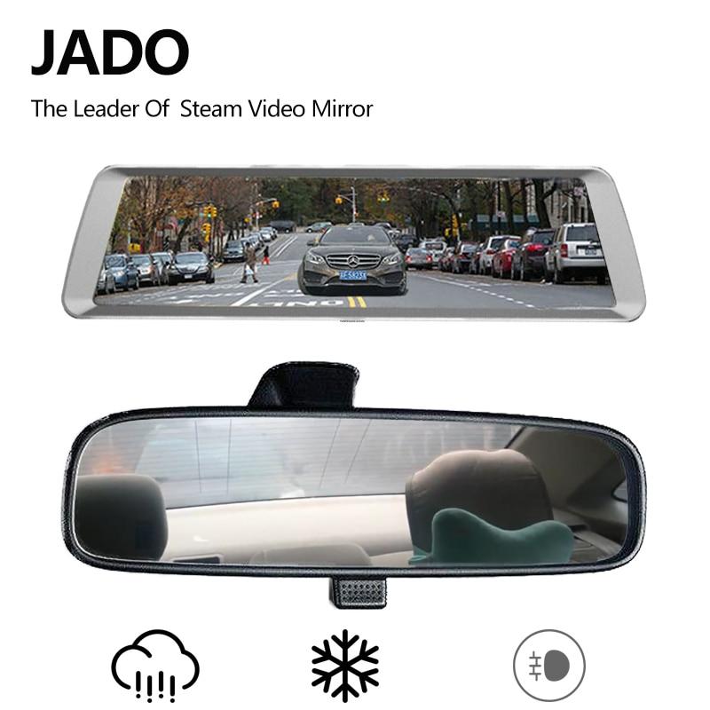 JADO Car Dvr Stream Rearview Mirror Camera LDWS10 IPS Touch Screen Full HD 1080P Car Dvrs Recorder Dash cam